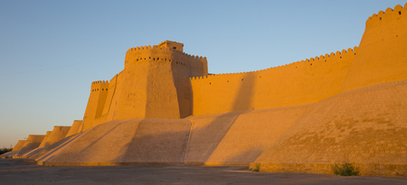 The watchtower of the Khuna Ark, the fortress and residence of the rulers of Khiva, in Uzbekistan. The Ark was built in the 12th Century.