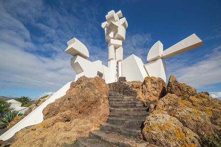 Monumento al Campesino  and craft workshop in Lanzarote, Canary Islands, in Spain Stock Photo