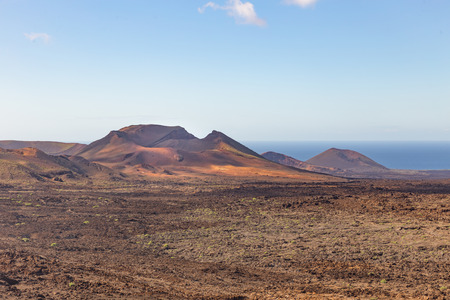 Mountains of Fire, in the Parque Nacional de Timanfaya, in Lanzarote, Spain Stock Photo