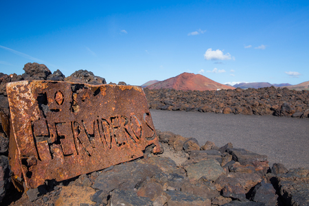 Los Hervideros, in Lanzarote, Canary Islands, Spain Stock Photo