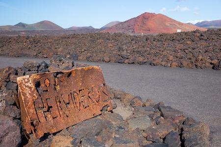 los hervideros: Los Hervideros, in Lanzarote, Canary Islands, Spain Stock Photo