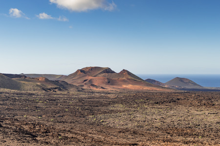 Mountains of Fire, in the Parque Nacional de Timanfaya, in Lanzarote, Spain Stock Photo