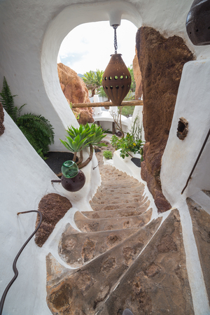 LANZAROTE, SPAIN - NOVEMBER 27, 2016: LagOmar House Museum in Lanzarote, Canary Islands, in Spain