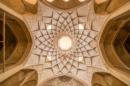 KASHAN, IRAN - MAY 2, 2015: view of the Traditional house Khan-e Abbasian, a bewildering complex of six buildings spread over several levels, in Kashan, Iran