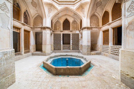 bewildering: KASHAN, IRAN - MAY 2, 2015: view of the Traditional house Khan-e Abbasian, a bewildering complex of six buildings spread over several levels, in Kashan, Iran