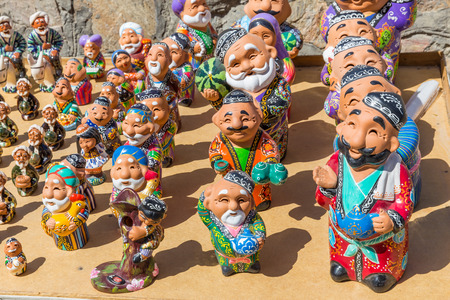 puppets: Typical puppets of Bukhara, in Uzbekistan Stock Photo