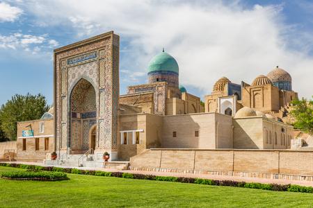 Shah-i-Zinda, the Tomb of the Living King, a stunning avenue of mausoleums in Samarkand, Uzbekistan