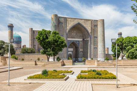 Bibi-Khanym mosque, constructed by Tamerlane the Great in commemoration of his favourite and beloved wife.