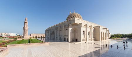 MUSCAT, OMAN - NOVEMBER 30, 2017: Sultan Qaboos Grand Mosque in Muscat, Oman