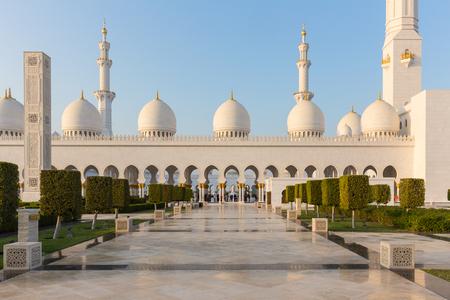 ABU DHABI, UAE - DECEMBER 02, 2017: Sheikh Zayed Grand Mosque, Abu Dhabi, UAE