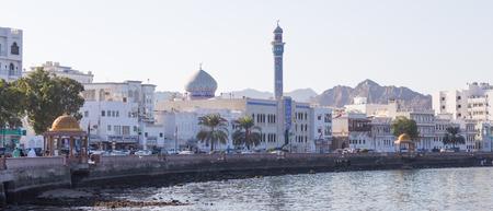 MUSCAT, OMAN - NOVEMBER 30, 2017: Corniche of Mutrah, in Muscat, Oman