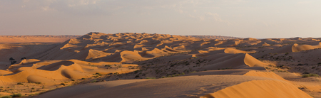 View of Wahiba sands, in Oman Stockfoto