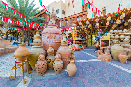 Handicraft products in the ancient Souq of Nizwa, in Oman
