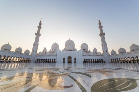 Sheikh Zayed Grand Mosque, Abu Dhabi, in UAE Editorial