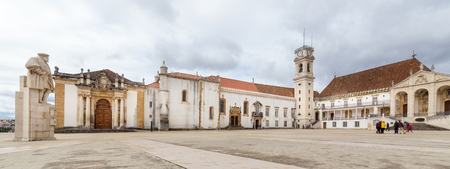 COIMBRA, PORTUGAL - FEBRUARY 28, 2017: The old University of Coimbra, Portugal