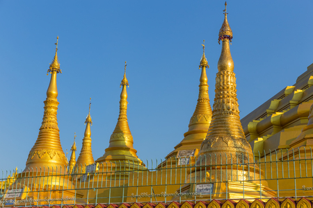 Shwemawdaw pagoda, the tallest and beautiful pagoda in Bago, Myanmar Stock Photo
