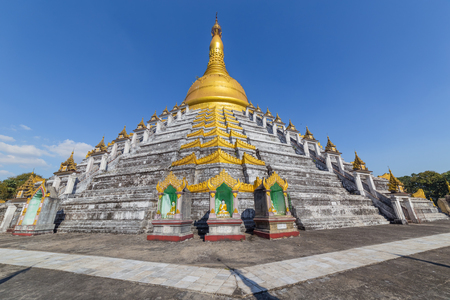 Mahazedi pagoda at Bago, in Myanmar Stok Fotoğraf