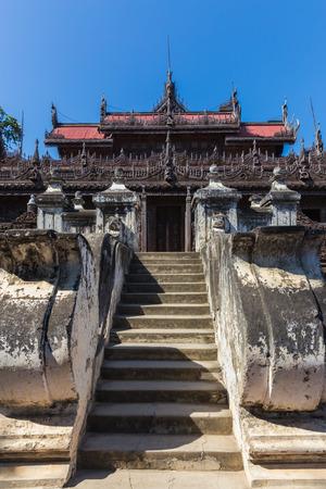 Shwenandaw Kyaung Temple or Golden Palace Monastery in Mandalay, Myanmar