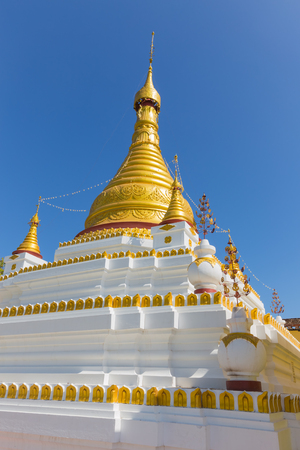 U Min Thonze Pagoda, Sagaing, in Myanmar Stock Photo