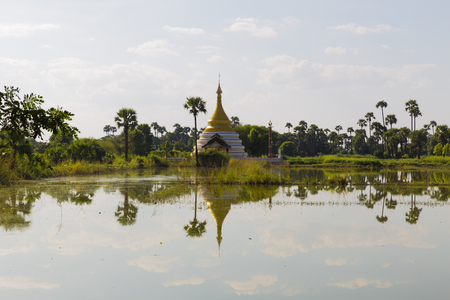 Temple in Inwa, near Mandalay, in Myanmar