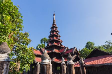 Bagaya Kyaung in Inwa, near Mandalay, in Myanmar Stock Photo