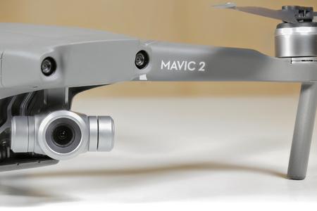 ROME, ITALY - SEPTEMBER 9, 2018: close-up photograph of the new Mavic 2 Zoom DJI