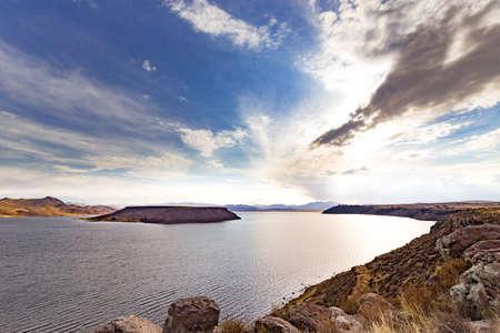 Site of Sillustani on the shores of Lake Umayo near Puno, in Peru