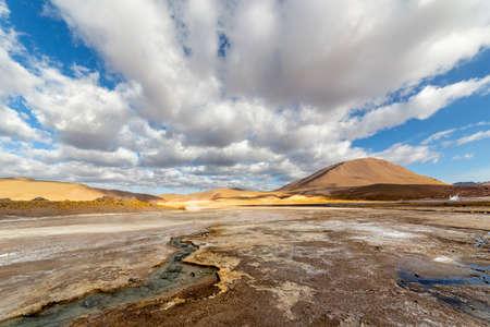 View of El Tatio geysers at sunrise, near San Pedro de Atacama, Chile. Stock Photo