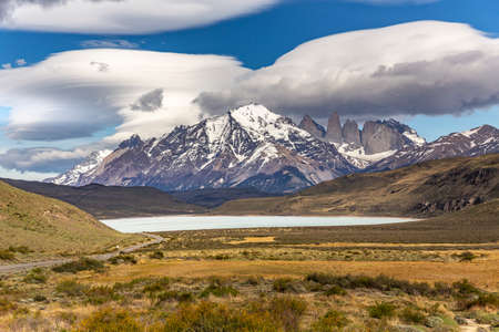 Amarga lagoon, Torres del Paine National Park, in Chile, South America