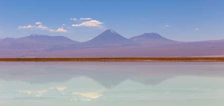 Tebinquinche lagoon, desert in Salar de Atacama, San Pedro Atacama, Altiplano, Chile Stock Photo