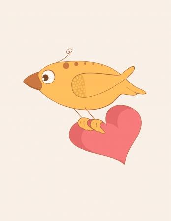 조류 사랑 카드