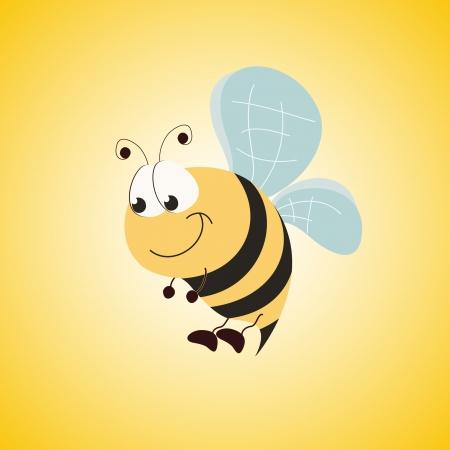 cute bee Reklamní fotografie - 14585212