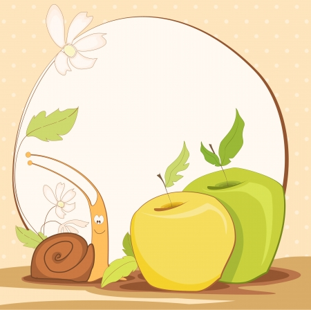 cute frame design with snail Vector