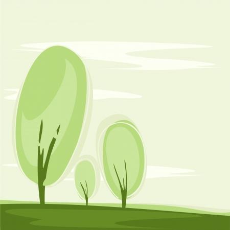 card with a stylized trees Reklamní fotografie - 14585195
