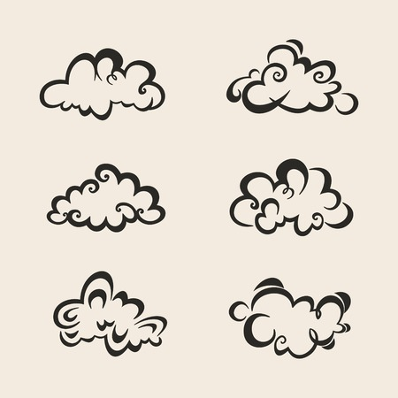Stylized set of clouds