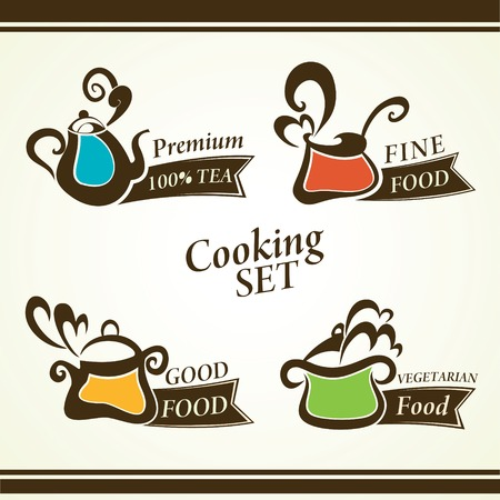 vector collection of cooking symbols Vector