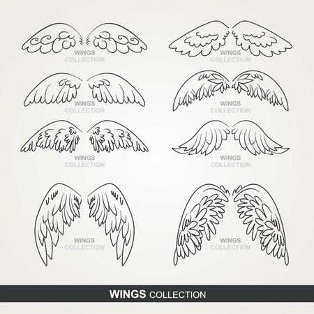 stylized wings Illustration