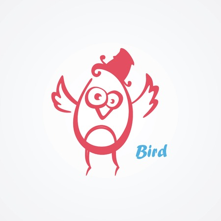 Vector illustration of funny birds