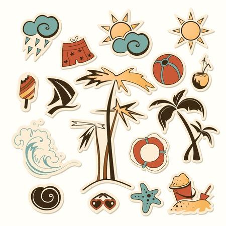 바다 해변 개체의 컬렉션