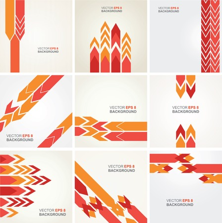 Set of 9 abstract backgrounds