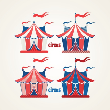 revue: Collection of tents for the circus