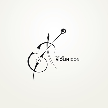 violoncello: Icona stilizzata Violino Vettoriali