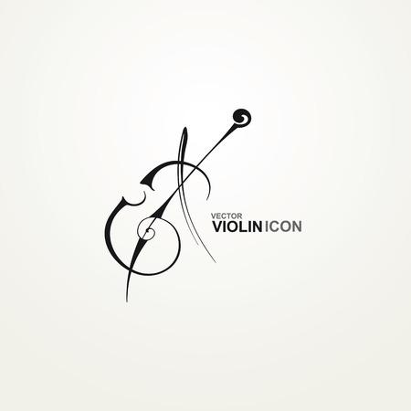 Icono estilizado Violín Foto de archivo - 29683486