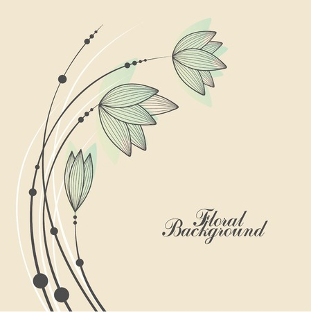 Delicate flowers with place for your text Vector