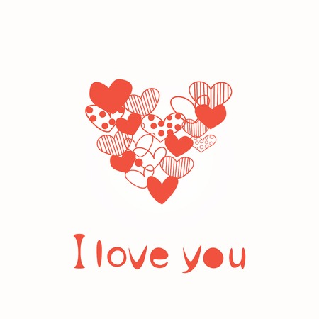 Postcard Valentine s Day with a stylized heart