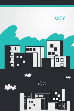 Hand drawn city view