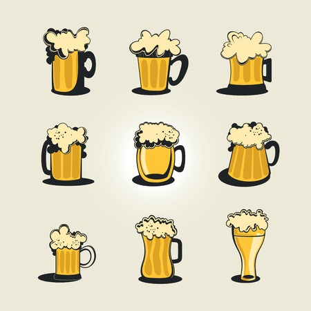 beers: Collection of stylized beers