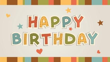 Illustration for happy birthday card Illustration