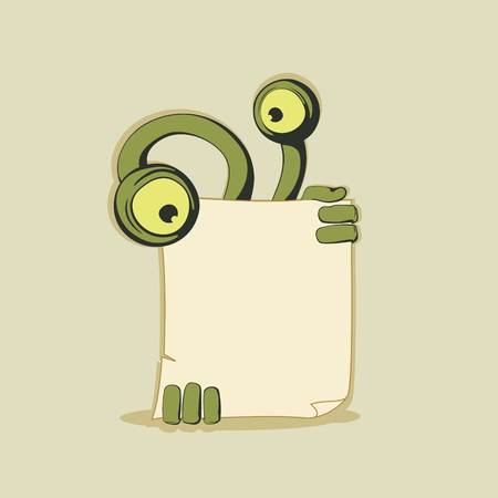 배너와 함께 녹색 괴물