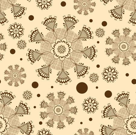 Seamless abstract background with ornamental circles